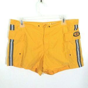 Yellow board shorts swim trunks